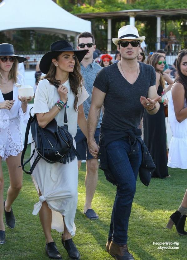 Ian Somerhalder aperçue avec sa fiancée Nikki Reed lors du deuxième jour du Coachella Music Festival 2015  ( à l'Empire Polo Club le samedi (11 Avril) à Indio, en Californie.)