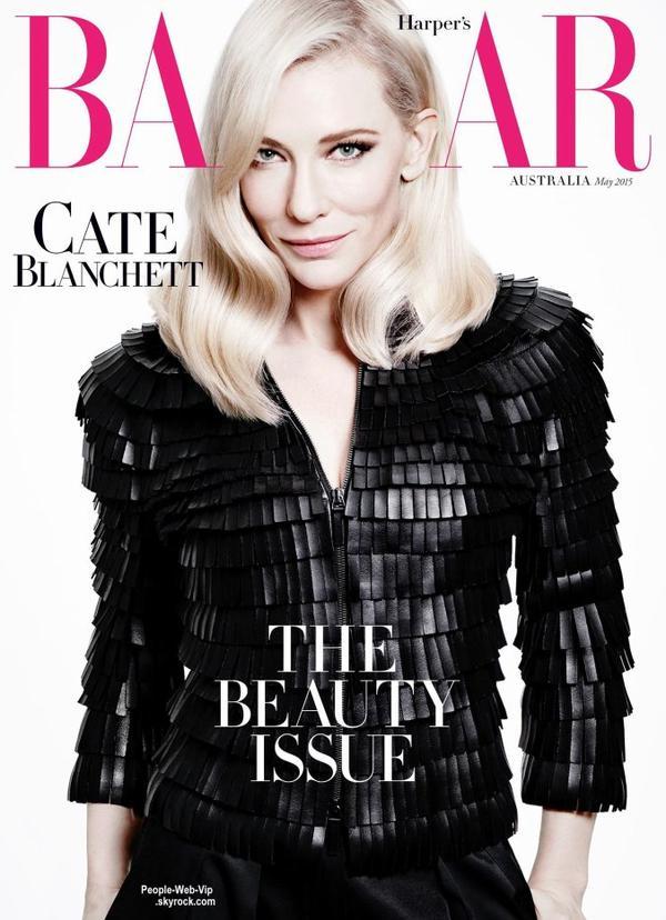 """Cate Blanchett orne la couverture du numéro de mai du magazine """" Harper's Bazaar """" Qu'en pensez vous?"""