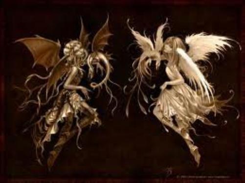 Dans cet étrange monde de délires immondes...Ce miroir au reflet douloureux...Le combat entre cet Ange précieux et ce Démon pernicieux...