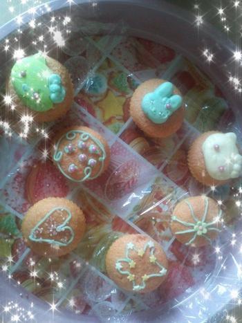 Cupcakes à la vanille avec nappage rose n°2