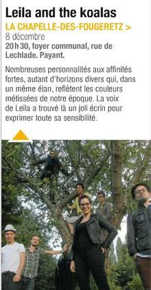 [08/12/12] Une chaleureuse soirée cabaret avec Leïla and the Koalas à La Chapelle-des-Fougeretz< Facebook | Youtube | Myspace | Twitter Fans | Noomiz | Forum >