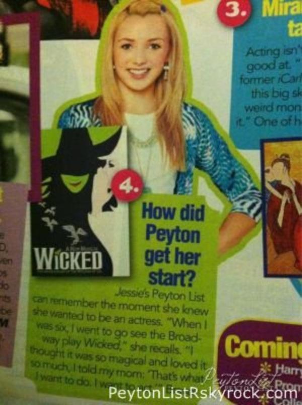 24/01/13 : Peyton a été vu sur un magazine