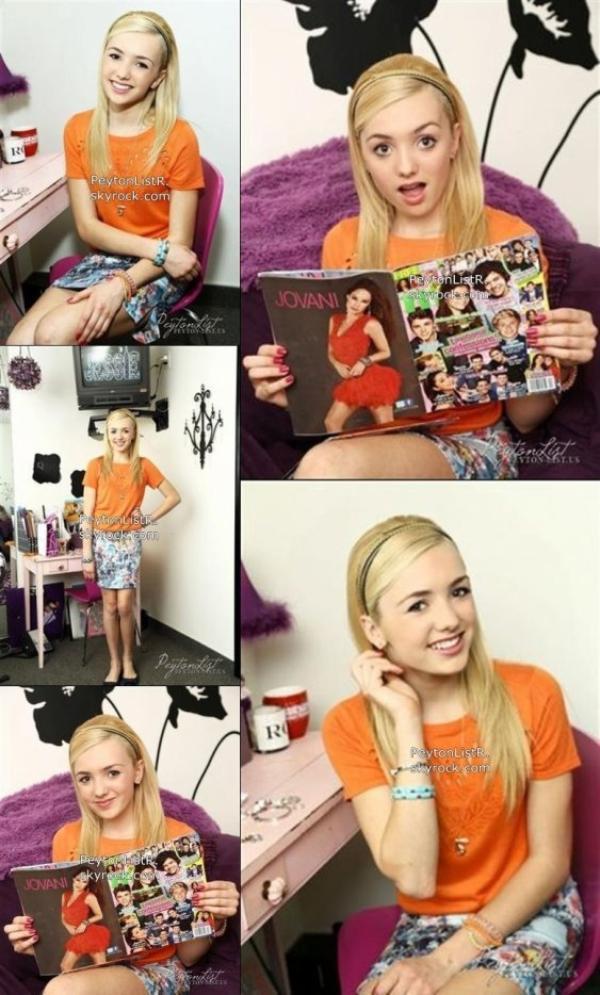 08/03/13 : Peyton a posé dans la salle de maquillage sur un ensemble de Jessie
