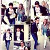 Dac & Kristen arrivant au studio vocal