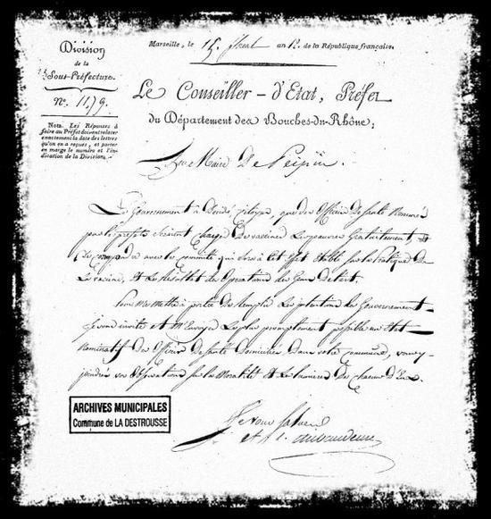 1804. Peypin_La Destrousse, la vaccine avant le vaccin