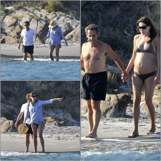 Jeu 6 Aout Carla Bruni Et Nicolas Sarkozy En Vacance Au Fort De Bregacon France Suis L Actualite De La Belle Carla Bruni