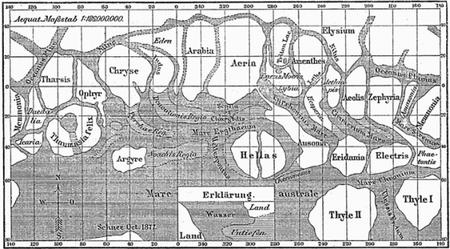 Les canaux martiens, une croyance qui a eut la vie dure