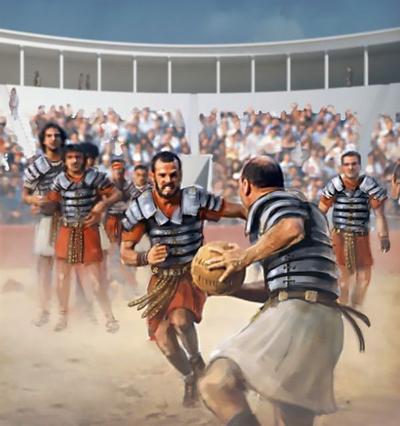 L'Harpastum, un ancêtre du football et du rugby plutôt violent