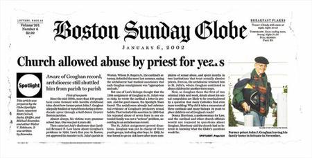 Spotlight, ou la révélation du scandale de la pédophilie cléricale à Boston