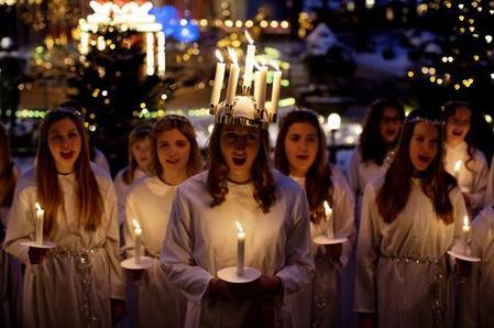 La Sainte-Lucie en Suède, une façon originale de fêter une martyre chrétienne