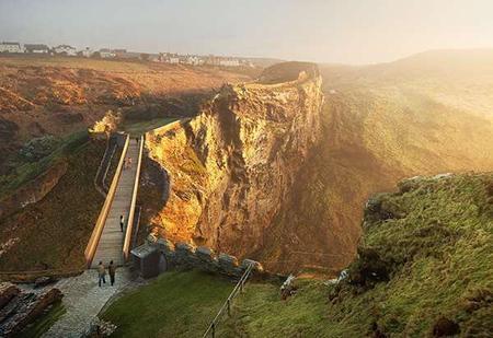 Le château de Tintagel a un nouveau pont