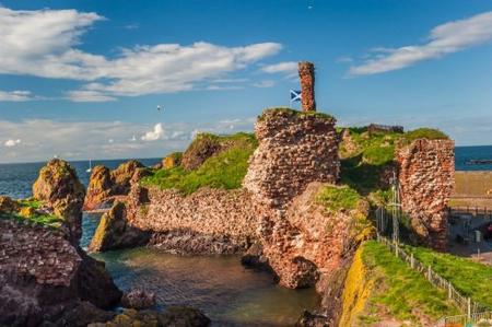 Dunbar, une forteresse angle devenue un centre royal