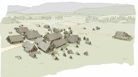 Découverte d'un village mérovingien du VIe siècle dans le Doubs