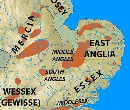 Le royaume des Middle Angles, un rassemblement de sous-groupes