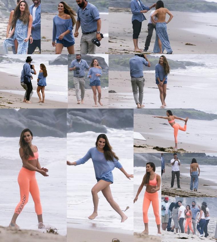 21/06/16:Lea lors d'un photoshoot en bord de mer à Malibu.