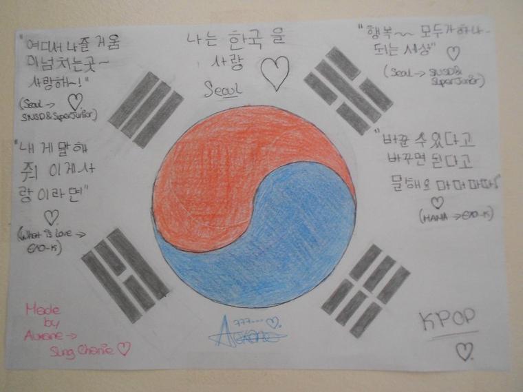 South of Korea 's Flag ♥♥♥ Made by Me ♥