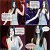 Avant le concert de Selena