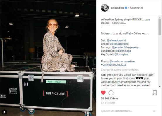 Céline a quitté Sydney après le concert et est partie directement à Brisbane
