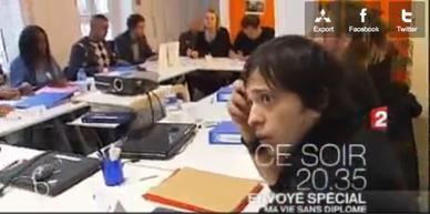 Fatih, 8e promo CréaJeunes Strasbourg, sur France 2 !