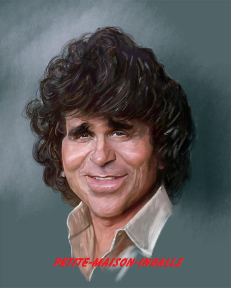 Caricature de michael landon..