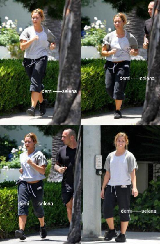 Demi Lovato: Elle fait un footing a Los Angeles