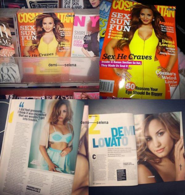 Demi Lovato: pour le magazine Cosmopolitan