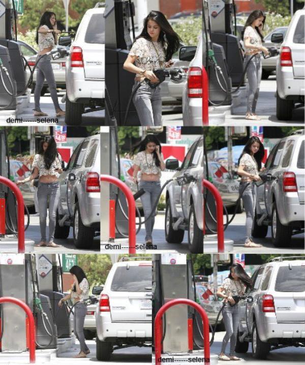 Selena gomez: dans une station essence à Encino, en Californie le 26 mai
