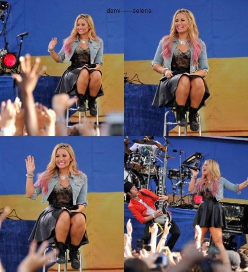 "Demi Lovato: à ABC's ""Good Morning America"", Central Park, NY"