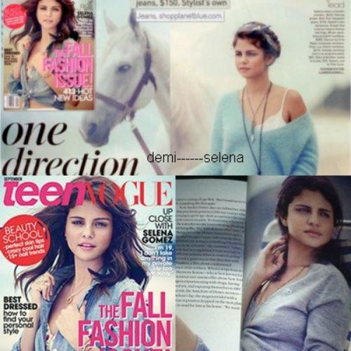 Selena Gomez: dans le Teen Vogue de septembre aux E.U
