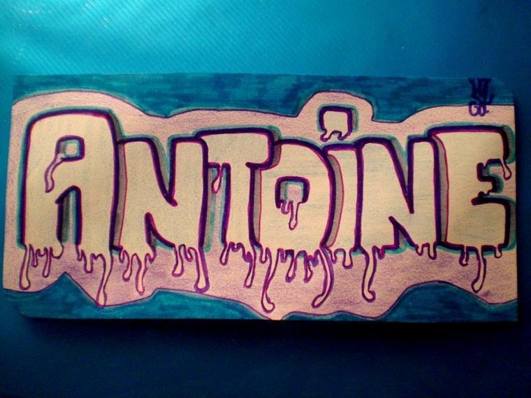 Antoine tags graffitis - Prenom en tag ...