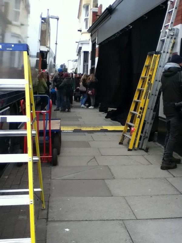 Scène de tournage !
