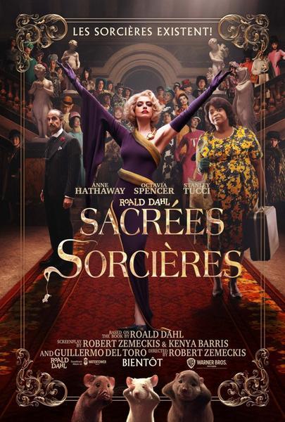 #Cinéma: Sacrées Sorcières de Robert Zemeckis et avec Anne Hathaway le 16 décembre.