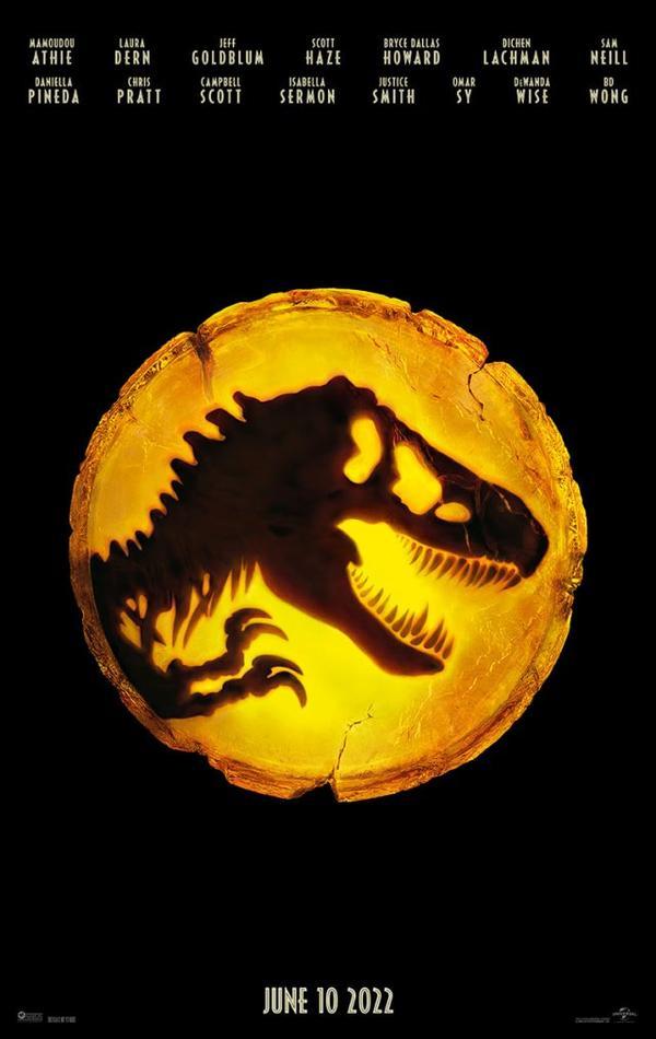 #Cinéma: Première affiche teaser pour Jurassic World Dominion.