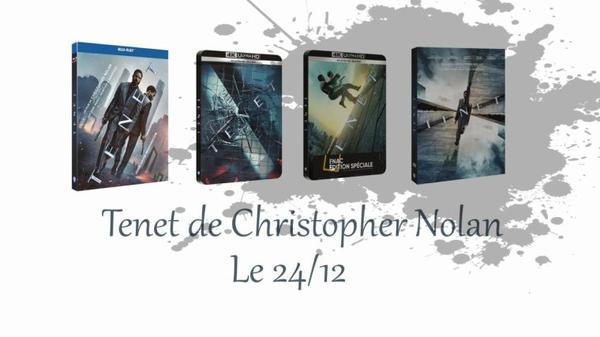 #Cinéma: Tenet de Christopher Nolan et avec Robert Pattinson sort le 24/12 en DVD & BLU-RAY