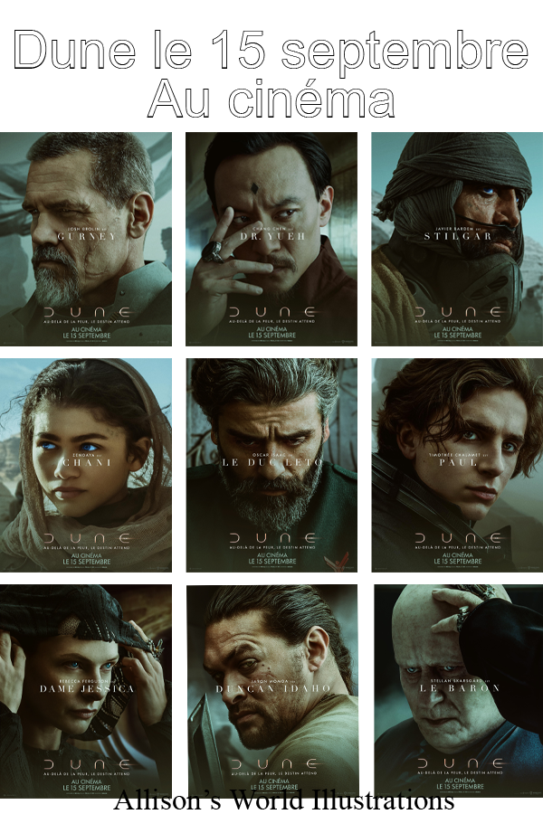 #Cinéma: Dune les premières affiches promos et la bande-annonce officielle.