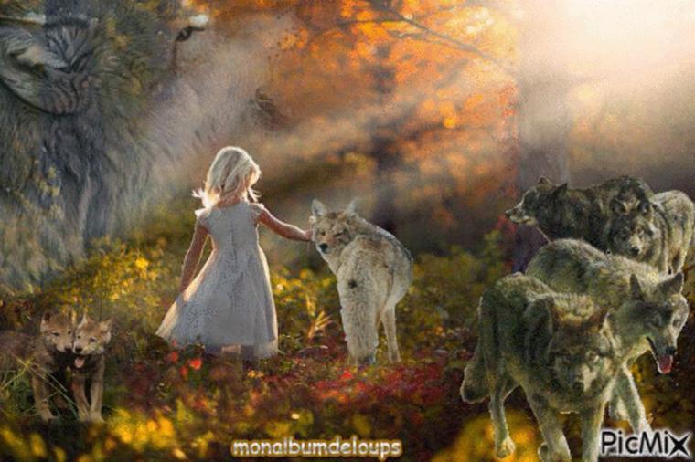 Il n'y a pas que de mauvais loups dans les histoires en voici une superbe :