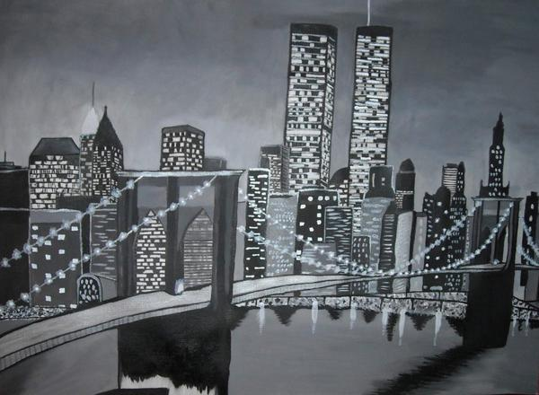 New york noir et blanc l 39 artiste - Credence new york noir et blanc ...