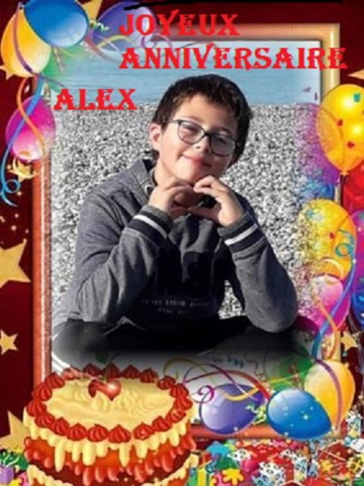 joyeux anniversaire a mon petit fils alex <fils de mon fils raphael et de son epouse celine