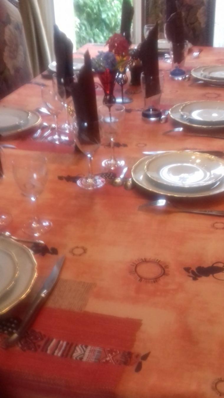 voila le repas avec mes enfants et mes petits enfants du treport