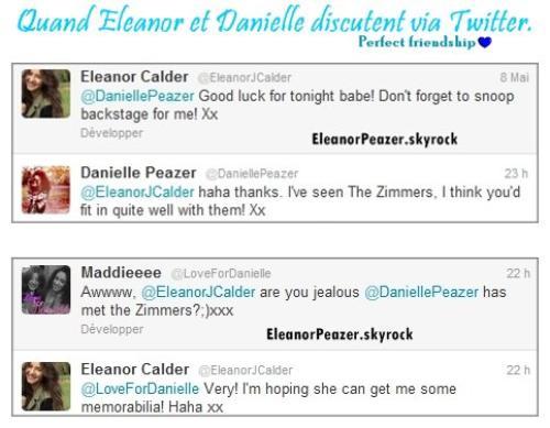 Eleanor dans ses délires, les filles sur Twitter, Danielle s'amuse avec une amie + Felicite et Lottie Tomlinson.