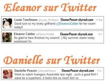 Eleanor a la cam, les filles sur Twitter, Danielle et Liam a un anniversaire + Hannah en vacance