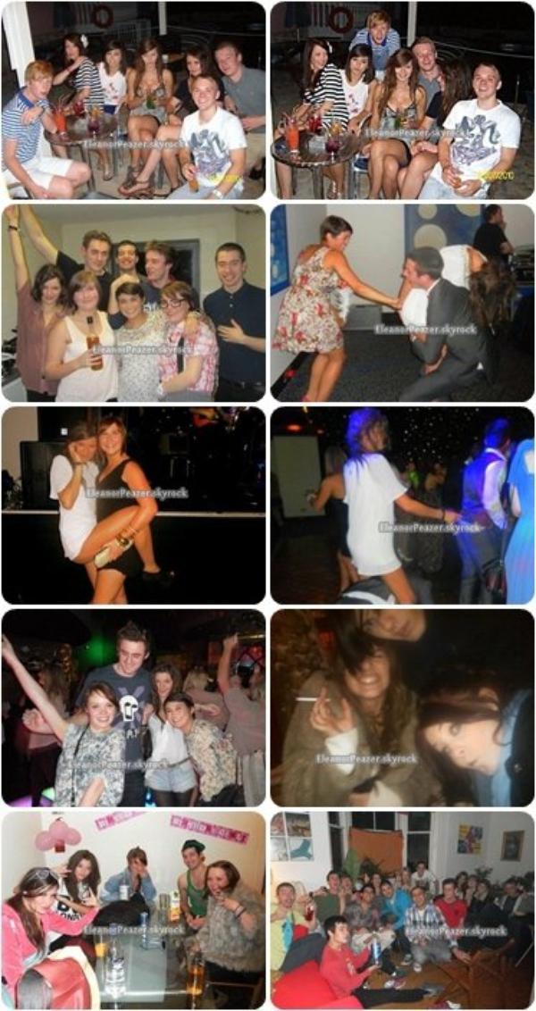Danielle a un concert, Danielle au Brit 2008, Eleanor lors de différentes soirées, Danielle et des amies