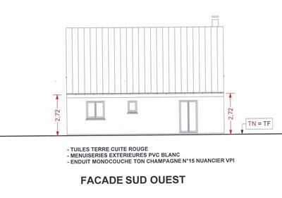 Plan de fa ade de maison suite notre aventure maison mikit - Plan des facades et des toitures ...