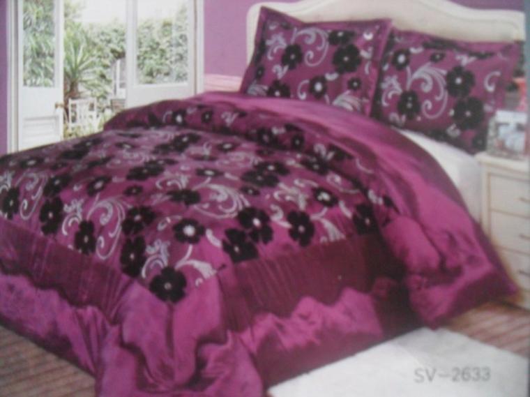 couvre lit mauve 2 personnes 230 sur 250 tapis59000. Black Bedroom Furniture Sets. Home Design Ideas