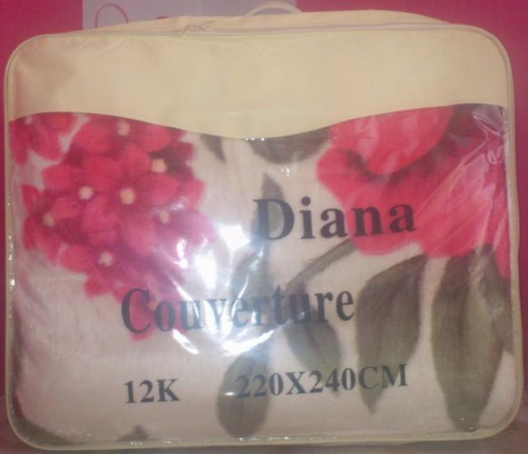 COUVERTURE DIANA 240 X 220 DIVERS COLORIES