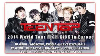 Concert Teen Top à Paris