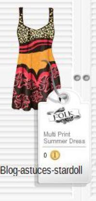 Robe multicolore.