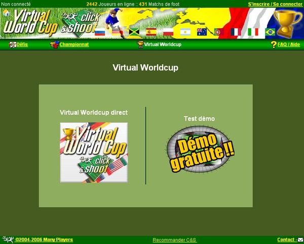 Pages de la Virtual World Cup