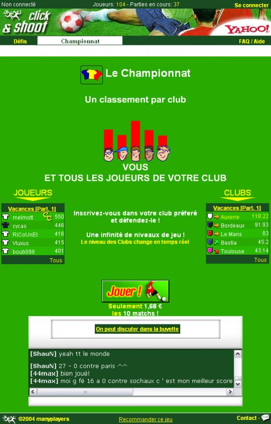 Pages du Championnat