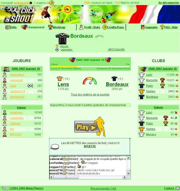 Pages en Championnat